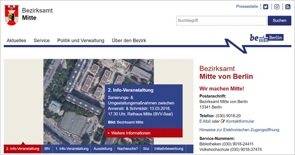 BA Mitte Info Screenshot