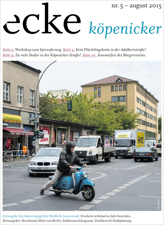 Stadtteilzeitung ecke koepenicker Nr 5 August 2015 Cover