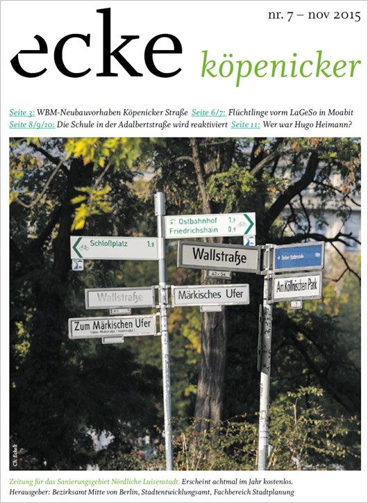 Stadtteilzeitung ecke koepenicker Nr 7 November 2015 Cover